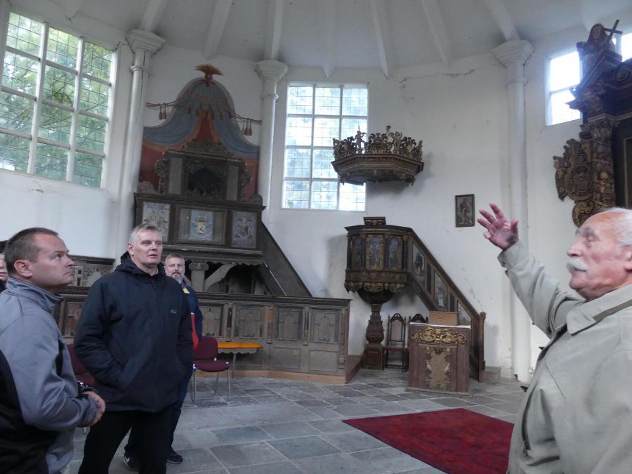 Führung in der Dorfkirche Griebenow