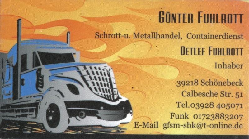 Schrott- und Metallhandel, Containerdienst Fulhrott