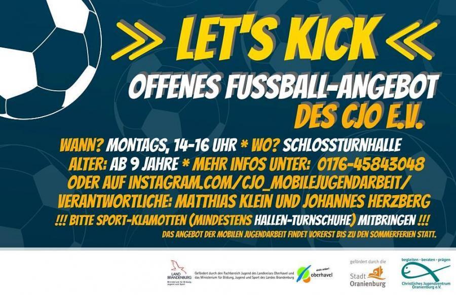 Mobile Jugendarbei: Offenes Fussball-Angebot
