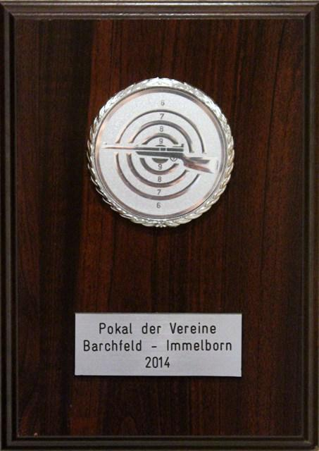 Siegerpokal des Preisschießens um den Wanderpokal des Bürgermeisters 2014
