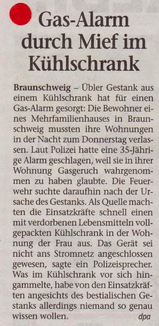 FW 2014.07.25 Gasalarm durch Kühlschrankmief