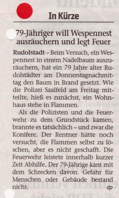 FW 2014.08.23 Ausgeräuchertes Wespennest