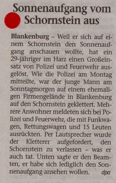 FW 2015.09.01 Sonnenaufgang vom Schornstein aus