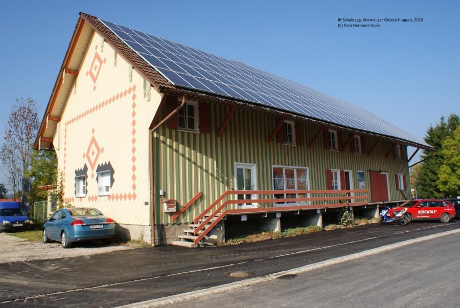 ehemaliger Güterschuppen am Bahnhof Scheidegg