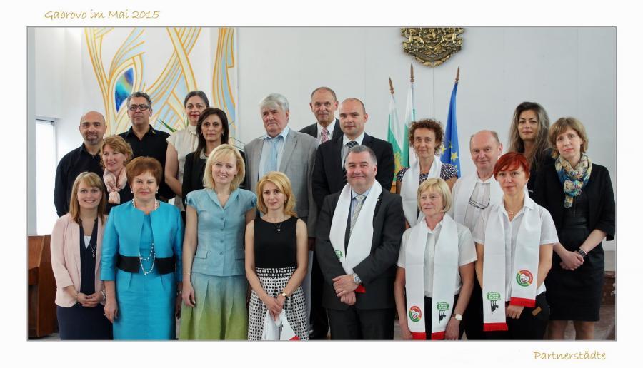 Gruppenfoto der Partnerstädte