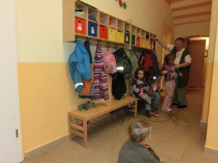 Garderobenbereich für alle Kinder