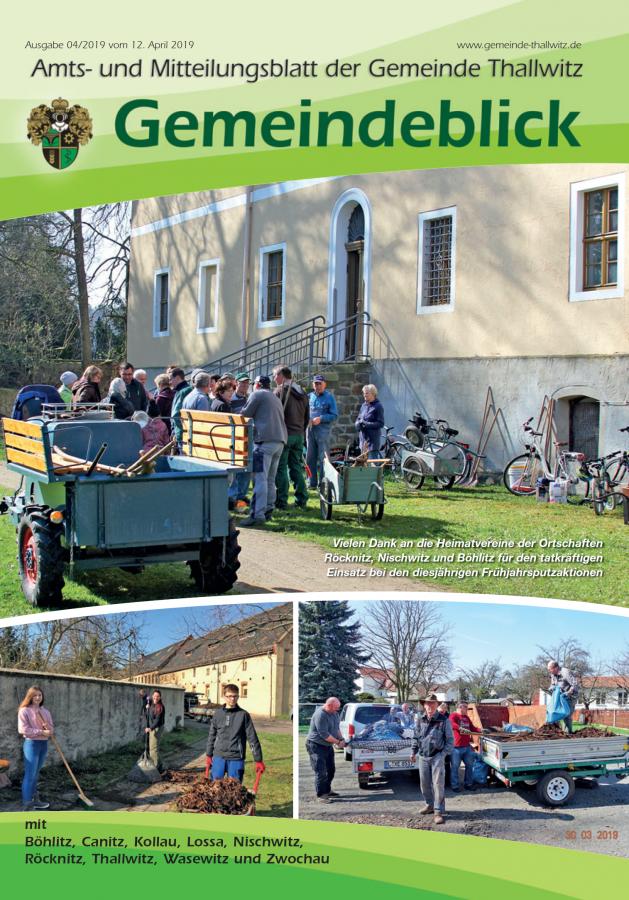 Gemeindeblick 04/2019