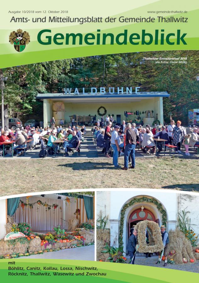 Gemeindeblick 10/2018