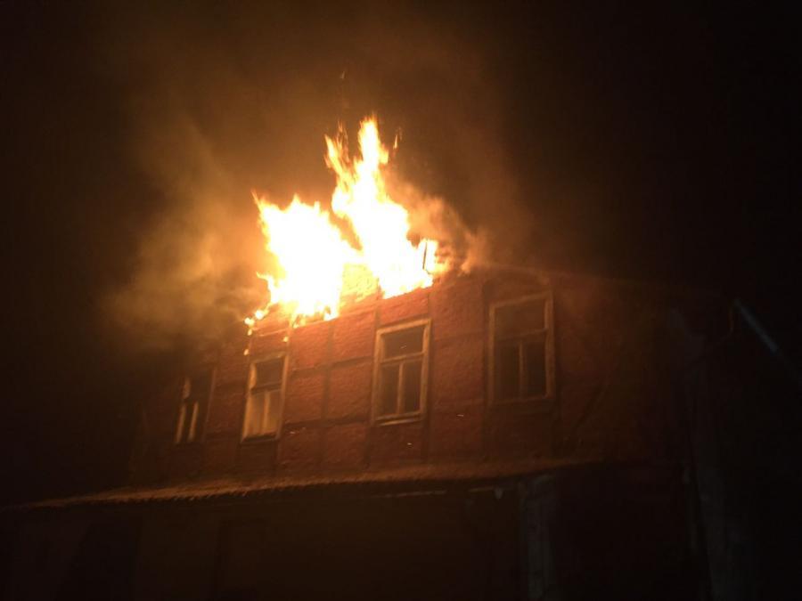 Gebäudebrand Vilmnitz 10.04.2017