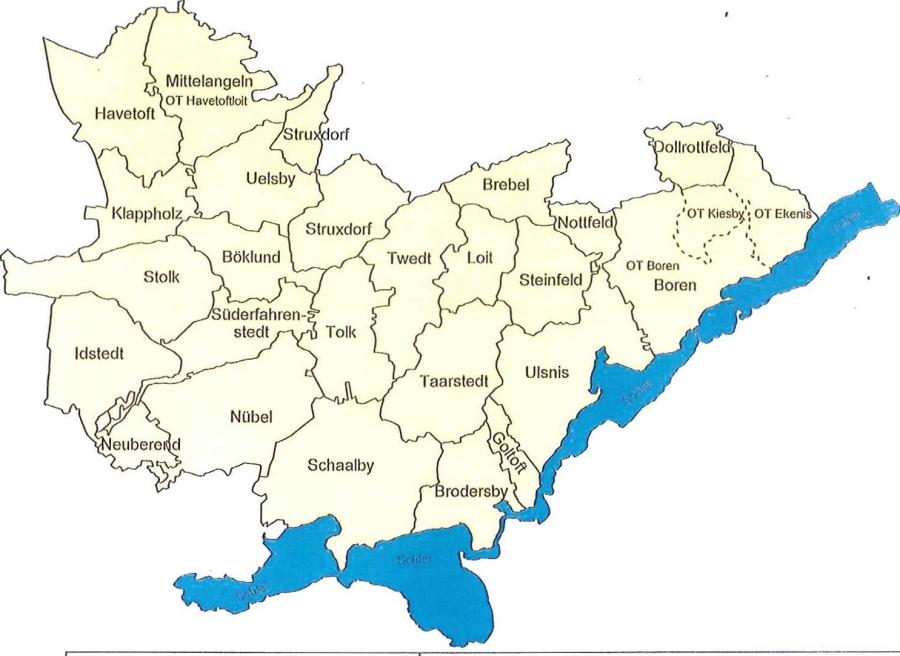 Gebietsübersicht WBV Südangeln