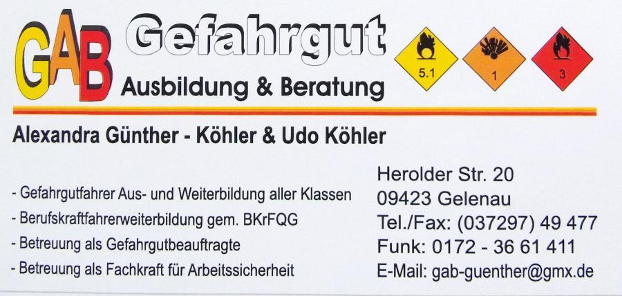 Gefahrgut Günther -Köhler