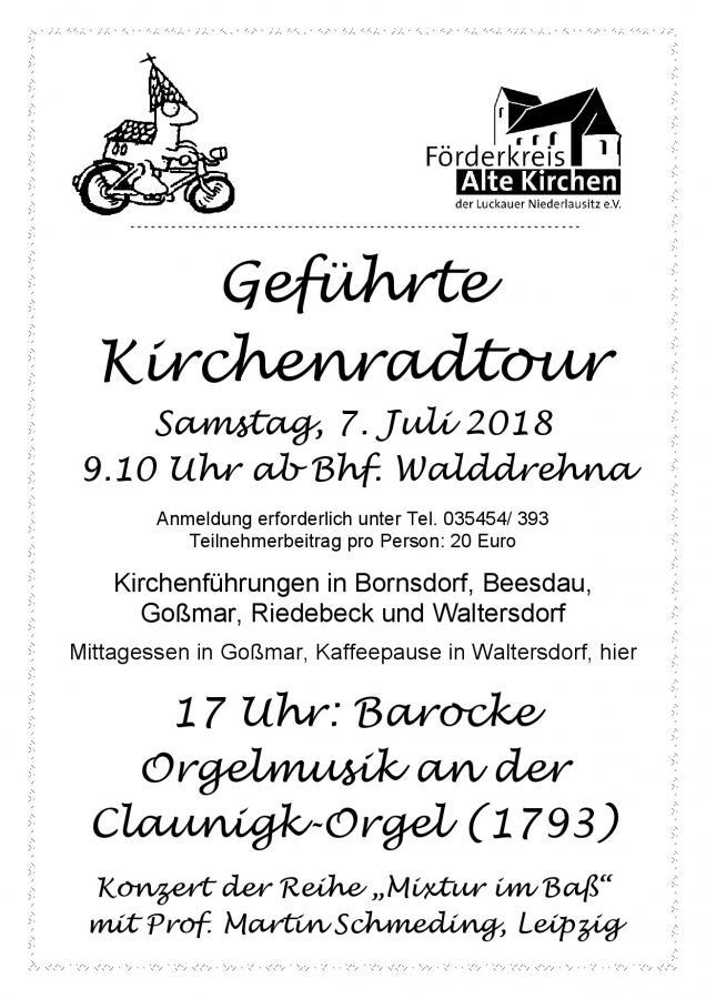 Geführte Kirchenradtour 2018