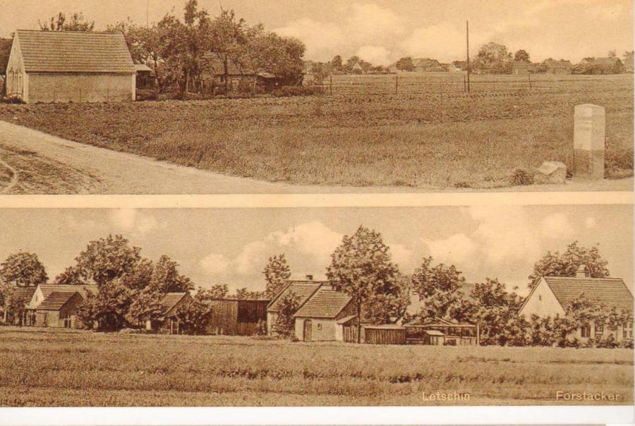 Forstacker bei Letschin, historische Ansicht