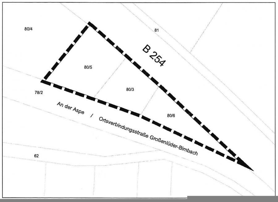 """Geltungsbereich 6. Änderung - B-Plan """"An der Aspe"""" Großenlüder"""