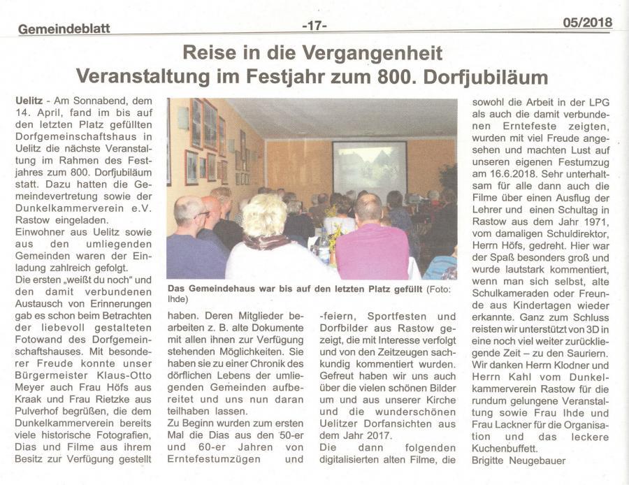 Gemeindeblatt 5-2018