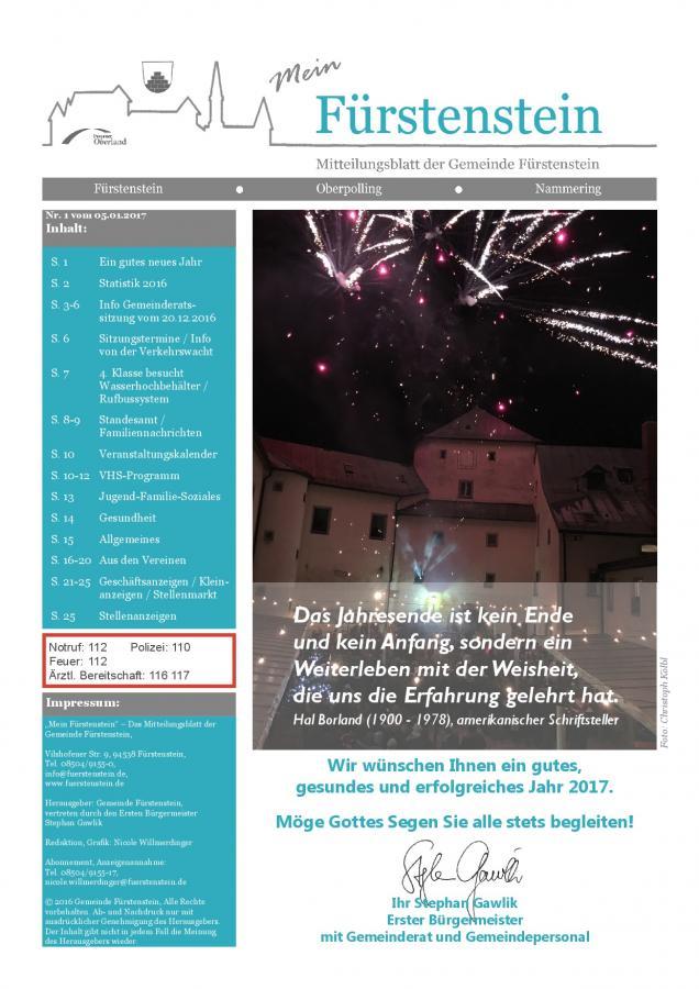 Gemeindeblatt Nr. 1/2017
