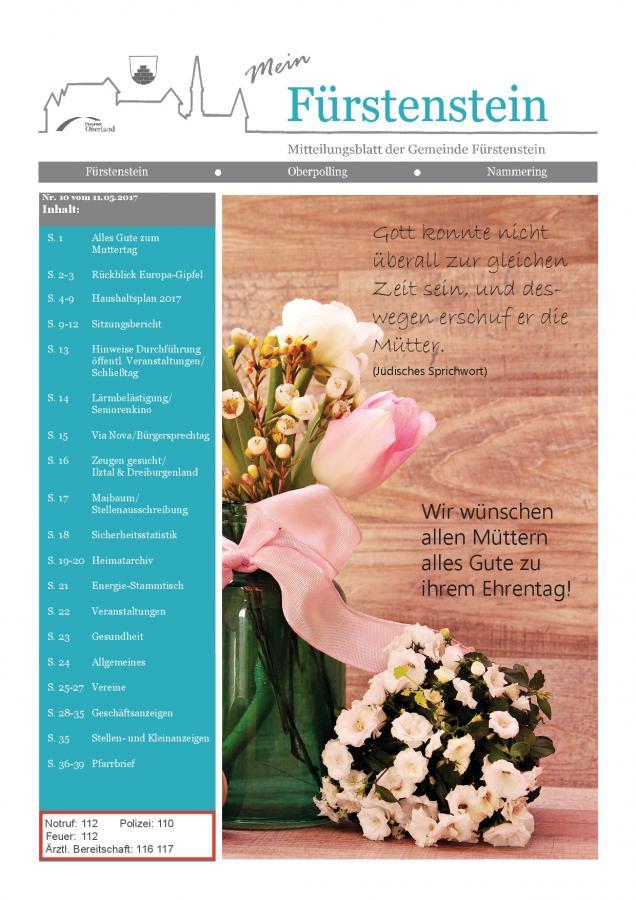 Gemeindeblatt Nr.10 -S.1