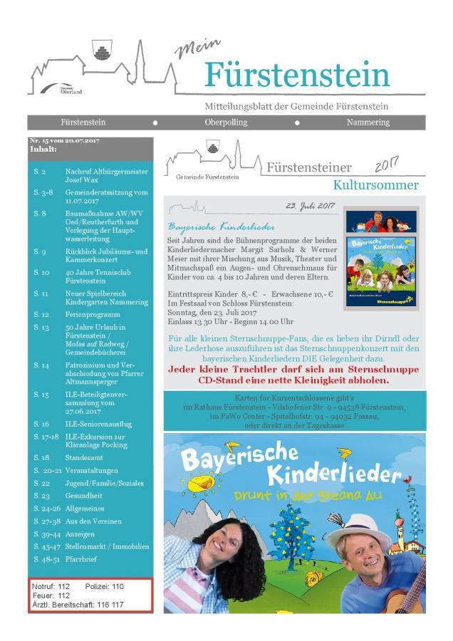 Gemeindeblatt Nr.15 -S.1