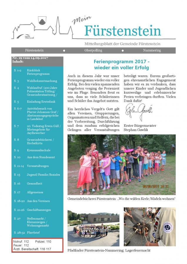 Gemeindeblatt Nr.19 -S.1