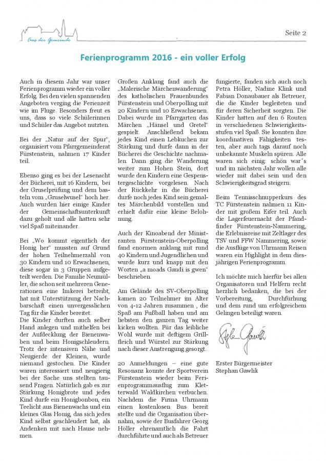 Gemeindeblatt Nr. 19, S.2