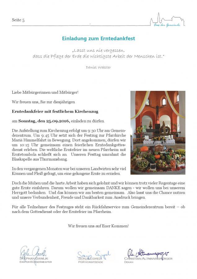 Gemeindeblatt Nr. 19, S.5