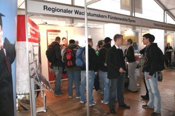 Gemeinsam mit Fürstenwalder Unternehmern am Gemeinschaftsstand auf der Firmenkontaktmesse TH CONNECT im Oktober 2011