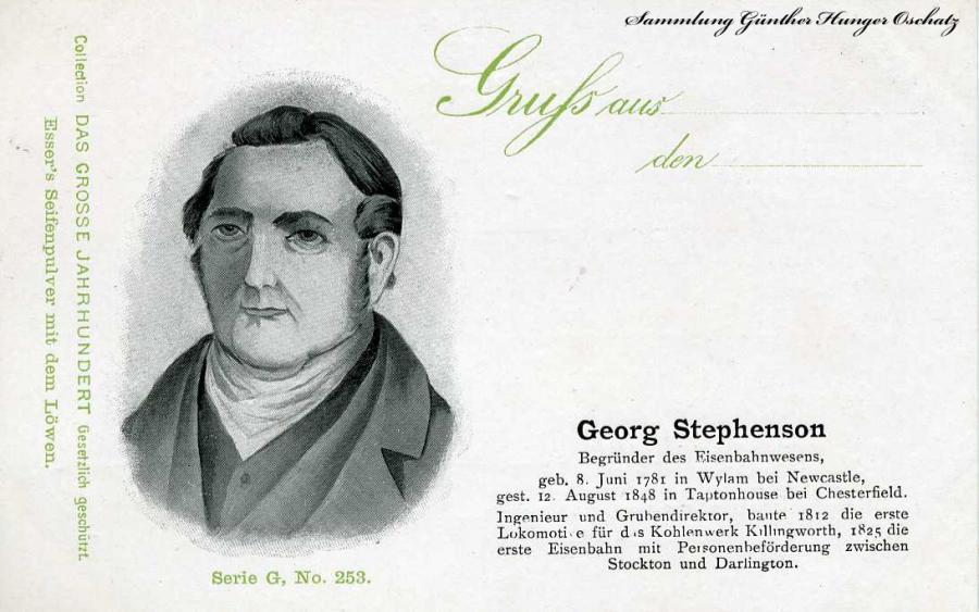 Gruß aus ... Georg Stephenson