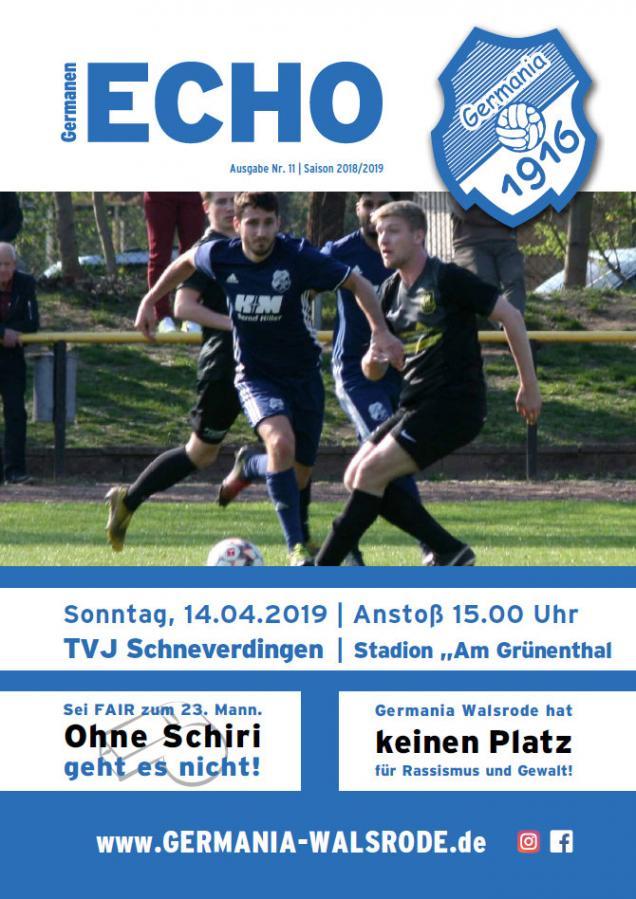 Germanen-Echo Nr.11 - TV Jahn Schneverdingen  14.04.2019