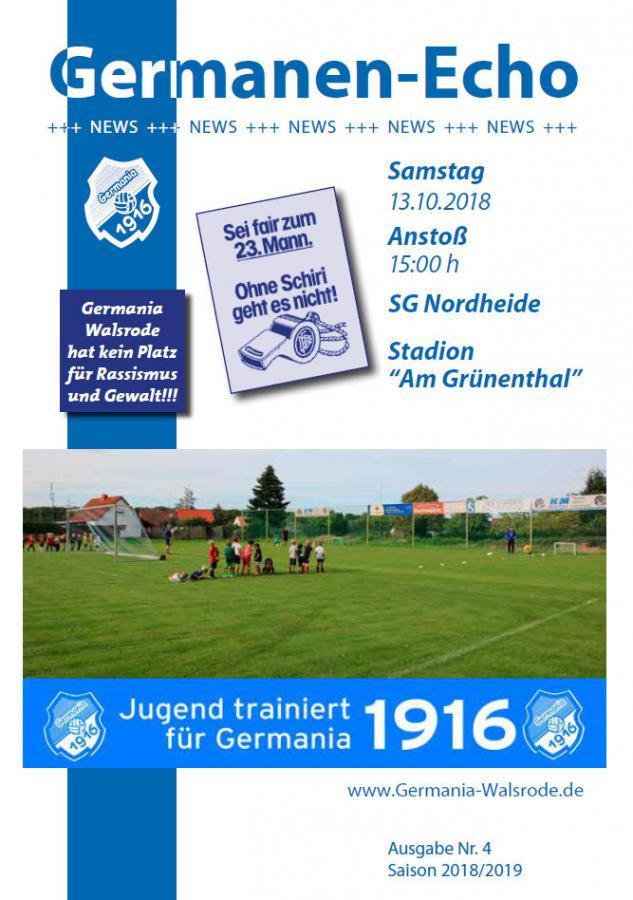Echo Aktuell Nr.4 - SG Nordheide 13.10.18
