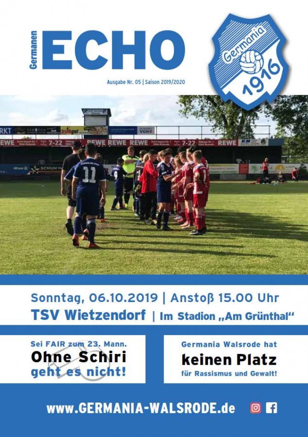 Germanen-Echo Nr.5 - TSV Wietzendorf  06.10.2019