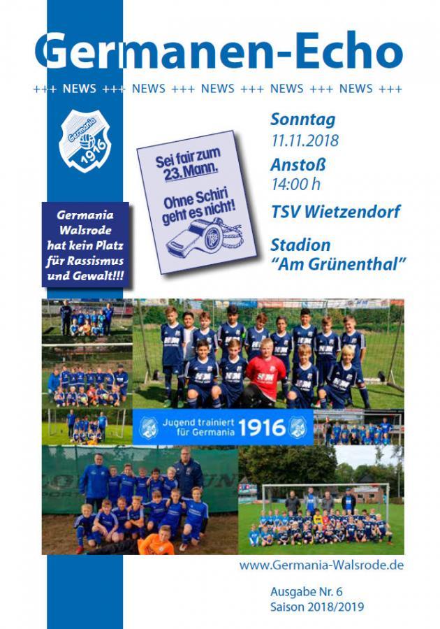 Echo Aktuell Nr.5 - TSV Wietzendorfl 11.11.18