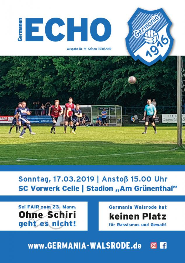 Germanen-Echo Nr.9 - SC Vorwerk Celle  17.03.2019