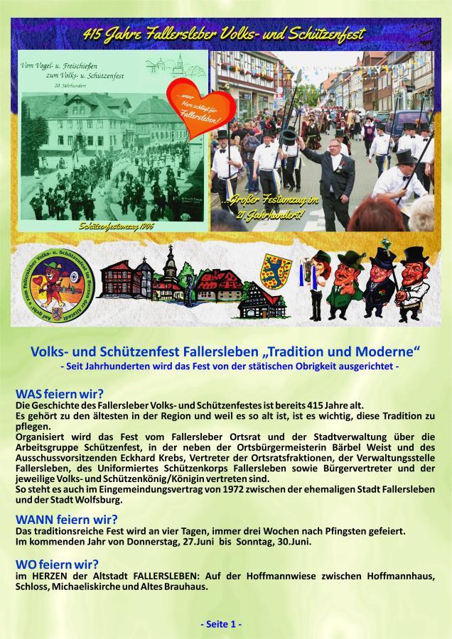 Geschichte Fallersleber Volks- und Schützenfest Seite 1