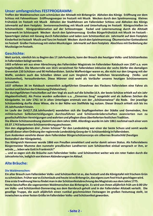 Geschichte Fallersleber Volks- und Schützenfest Seite 2