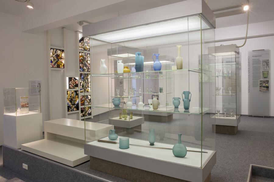 Ausstellungsraum: Geschichte der Glasherstellung