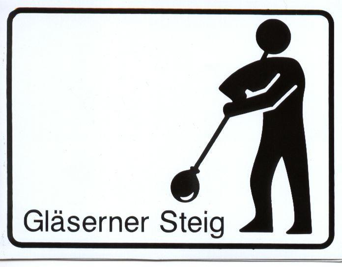 Markierungszeichen des Gläsernen Steiges