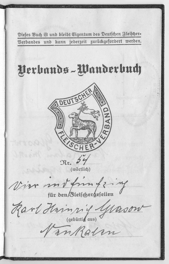 Verbandswanderbuch von Karl-Heinrich Glasow