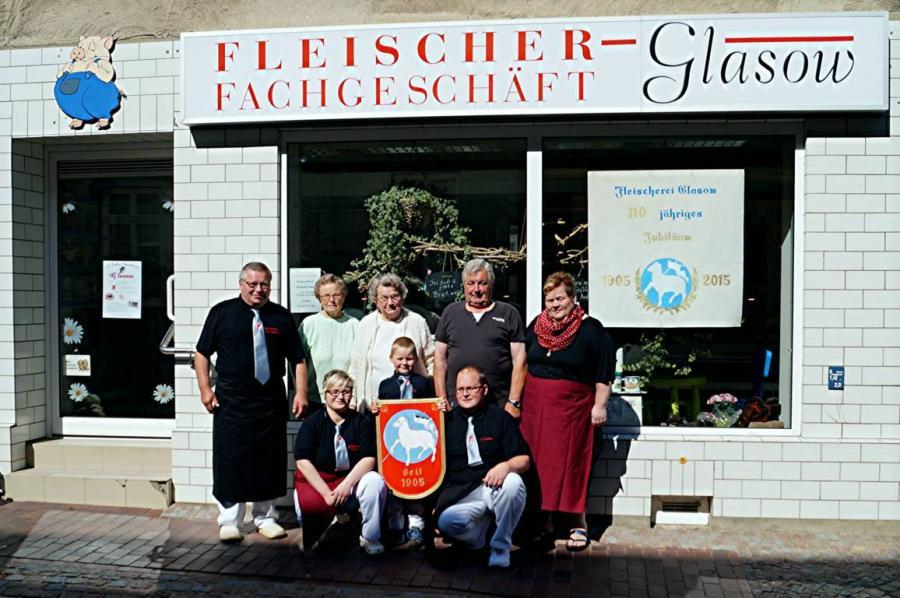 100 Jahre Fleischer - Fachgeschäft Glasow