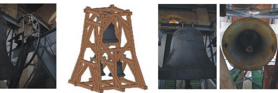 Altes Tragwerk - Entwurf Neues Tragwerk - Alte Glocken