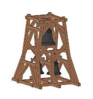 ... so könnte das neue Glockentragwerk aus Eichenholz aussehen