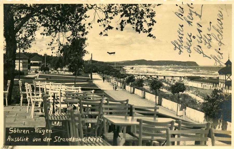 Göhren-Rügen Ausblick von der Strandkonditorei