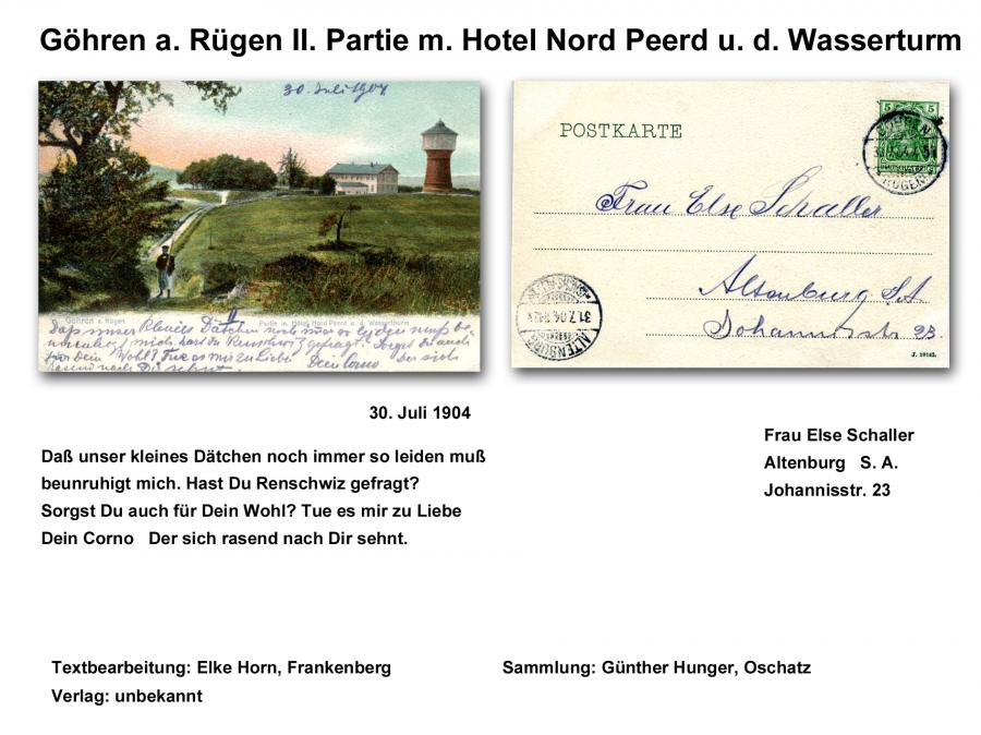Göhren a. Rügen II. Partie m. Hotel Nord Peerd u. d