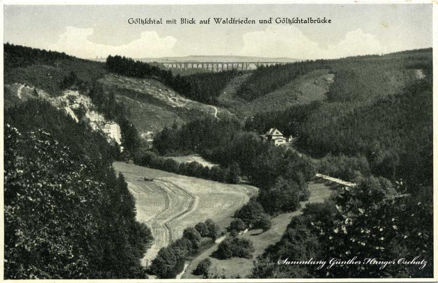 Göltzschtal mit Blick auf Waldfrieden u Gölzschtalbrücke