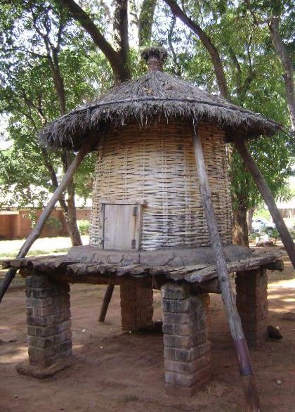 Getreidespeicher in Malawi