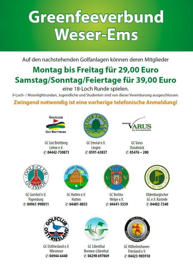 Greenfee-Verbund Weser-Ems 2018