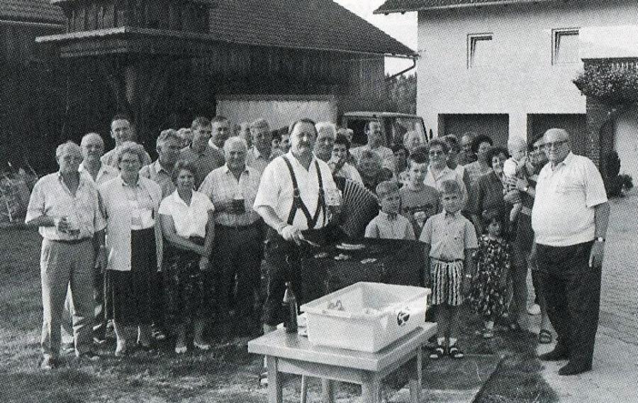 Grillfest bei Xaver Wintersberger in Taubenöd 1997
