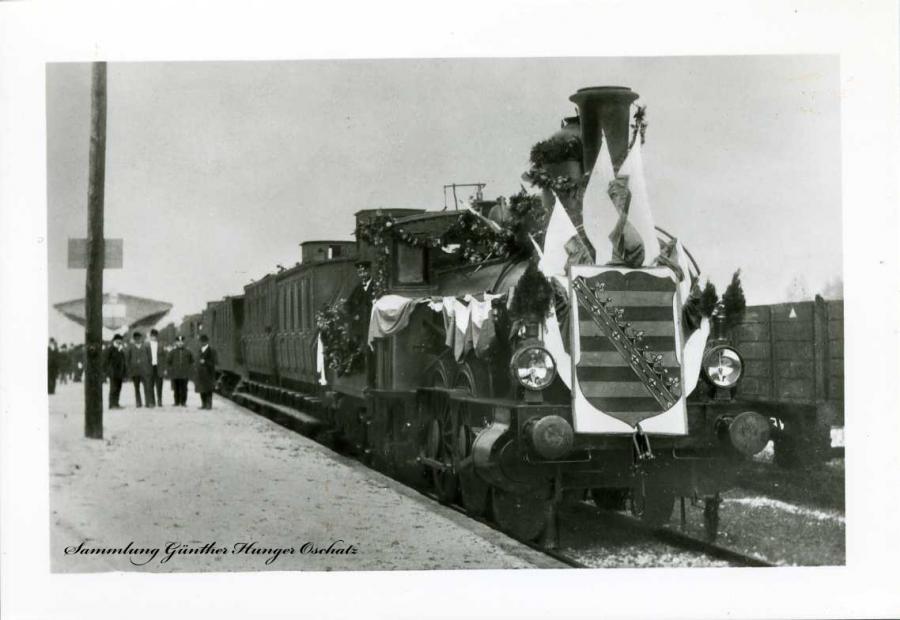 Groitzsch Einweihung der Querbahn 3.9.1909