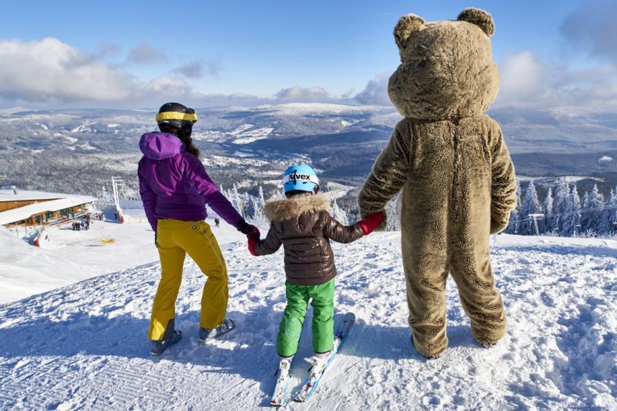 Skifahren mit dem ArBär