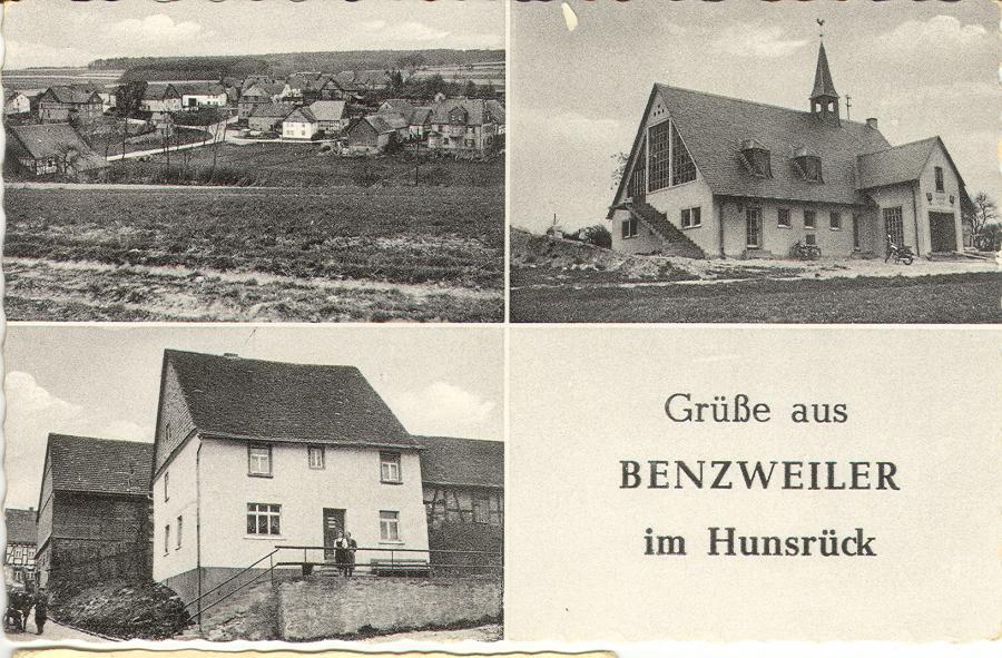 Ansichtskarte von Benzweiler mit dem Kolonialwaren-Geschäft Kasper. (Engelsmutter)