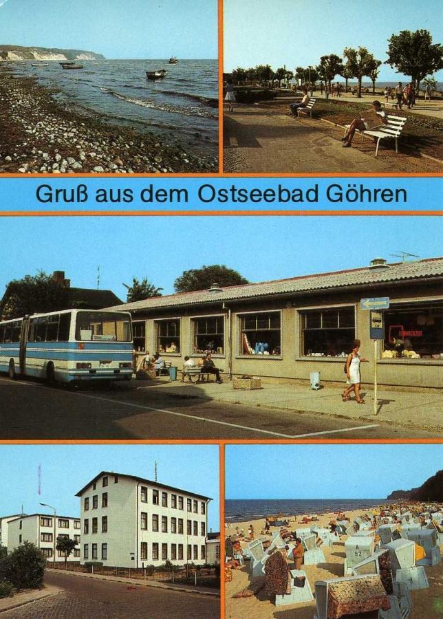 Gruß aus dem Ostseebad Göhren 1988